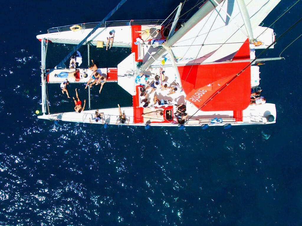 Catamaran White Tenerife cenital