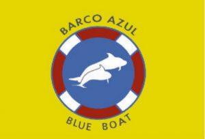 blue boat flag